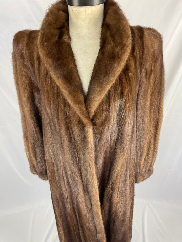 Fully Stranded Demi-Buff Mink Coat by Berkleys
