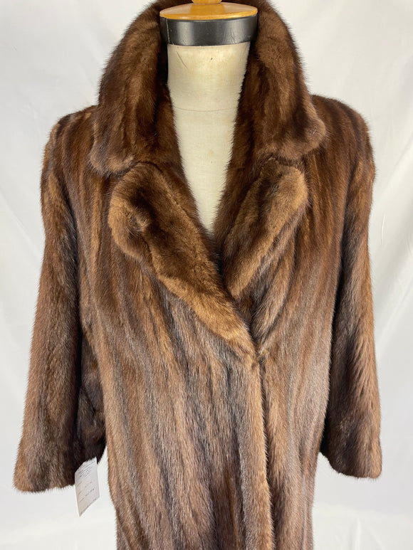 Fully Stranded Natural Demi-buff Mink Coat
