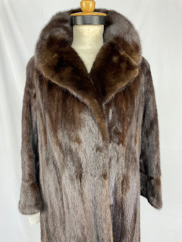 Stranded Natural Ranch Mink Coat by Arctic Furs