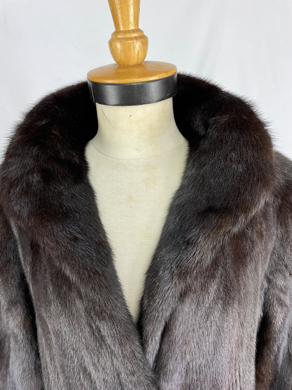 Fully Stranded Natural Black Diamond Mink Coat