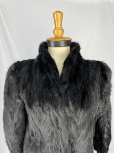 Black Chevroned Mink Tail Coat