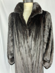 Fully Stranded Natural Black Diamond Mink Coat by Feitel's