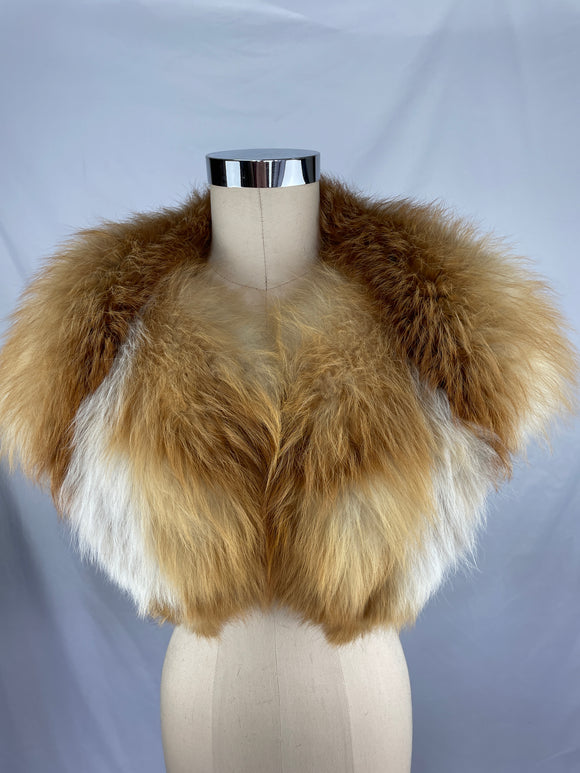 Vintage Natural Canadian Red Fox Cape Collar