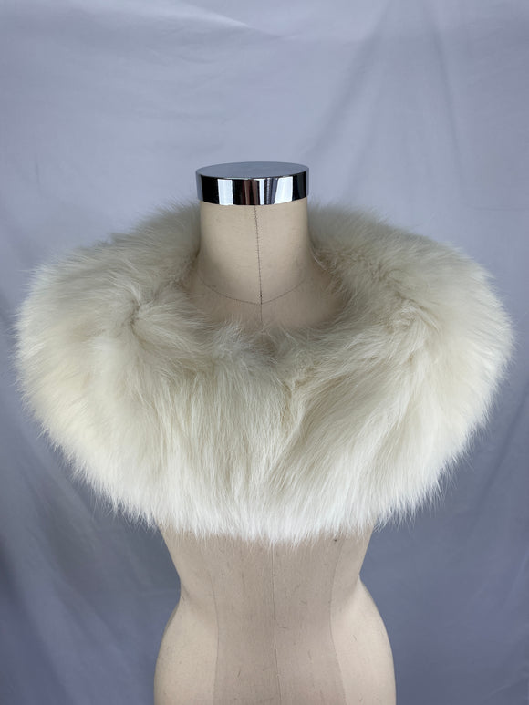 Vintage Natural Arctic Fox Collar By Cornellius - 1 Pelt