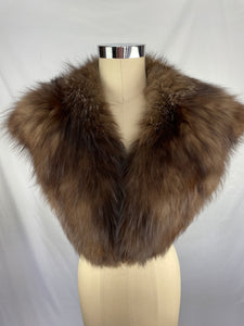 Vintage Natural Silver Fox Collar - 1 Pelt