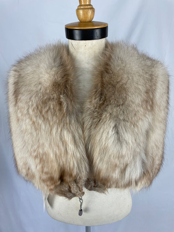Vintage Natural Crystal Fox Cape