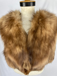 Vintage Blonde Russian Fox Cape