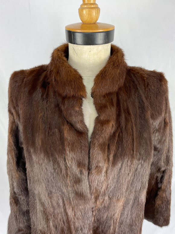 Dark Chestnut Dyed China Mink Jacket
