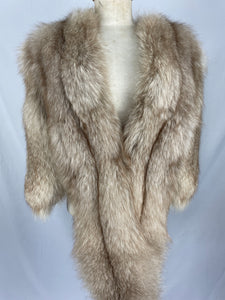 1950s Natural Crystal Fox Stole