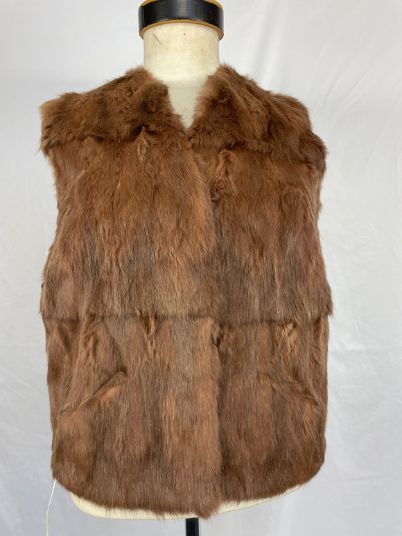 Mocha Dyed Squirrel Vest