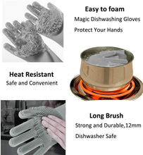 Load image into Gallery viewer, 1 Pair Magic Silicone Dishwashing / Pet cleaning Reusable Gloves