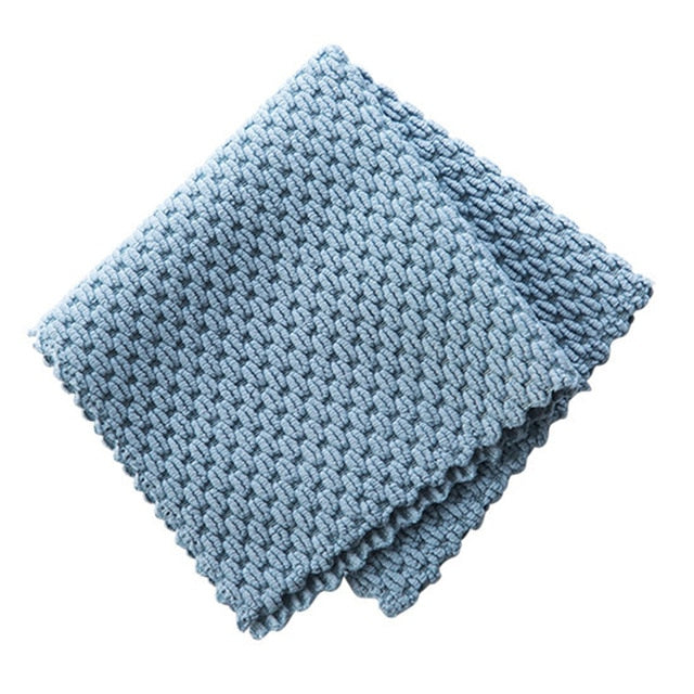 Anti Grease Microfiber Cleaning Cloth