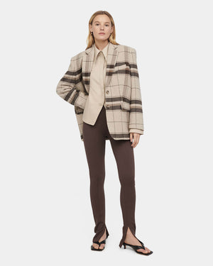 STRETCH LINEN SLACKS / BLACK