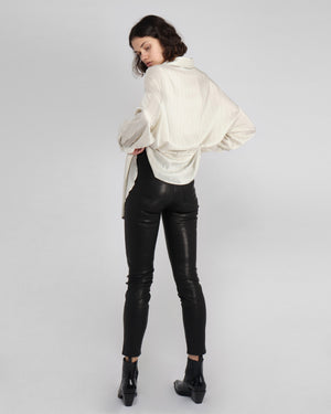 JAGGER LEATHER PANT / BLACK