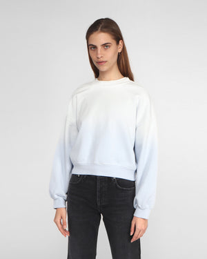 BALLOON SLEEVE SWEATSHIRT / LIGHT BLUE