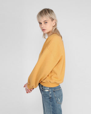 BALLOON SLEEVE SWEATSHIRT / TUMERIC HEATHER