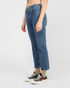 RILEY CROP HI RISE STRAIGHT / AIR BLUE
