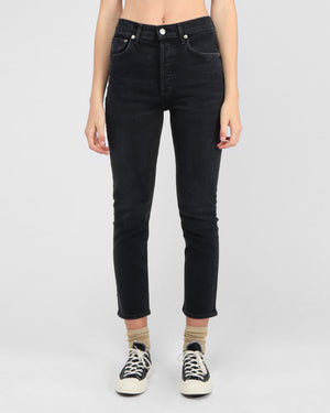 RILEY CROP HI RISE STRAIGHT / BLACK PEPPER
