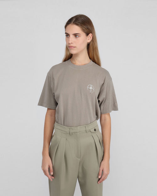 IDA TEE PALM / WASHED GREY