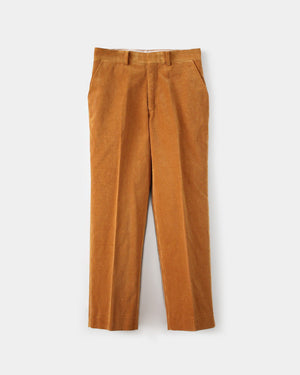 WASHED CORDUROY SLACKS / CAMEL BROWN