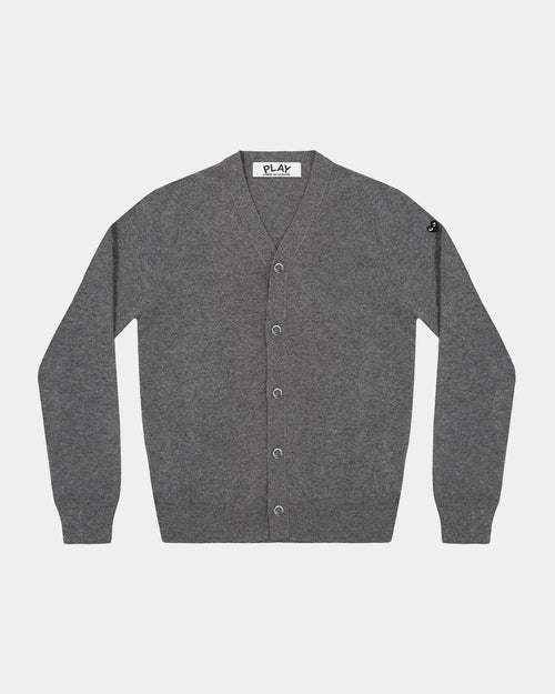MEN'S CARDIGAN N046 SMALL BLACK HEART / GREY