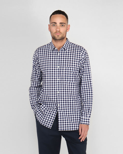 FOREVER SHIRT B232 / NAVY CHECK