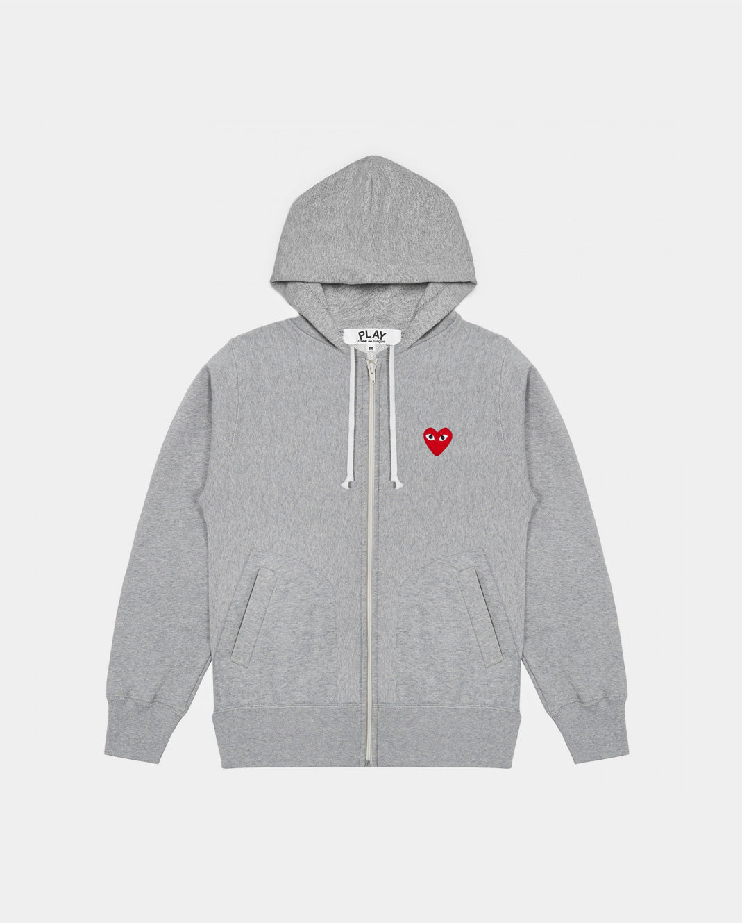 HOODIE T250 HEARTS ON BACK / GREY