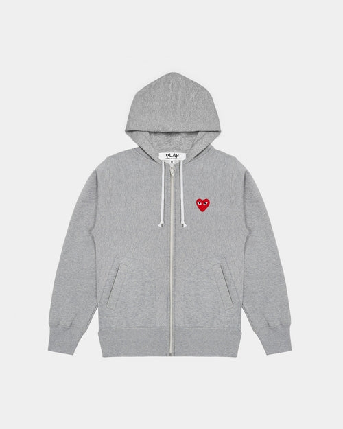 WMN'S HOODIE T249 HEARTS ON BACK / GREY