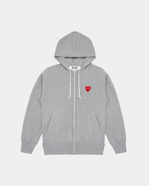 MEN'S HOODIE T250 HEARTS ON BACK / GREY