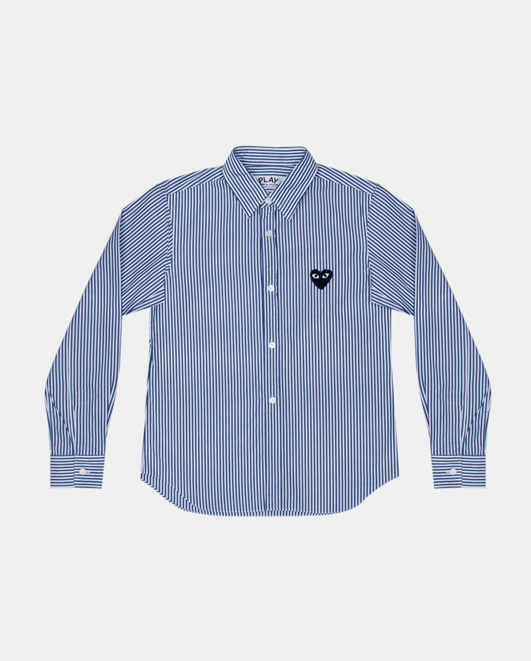 SHIRT B007 / BLUE WHITE STRIPE