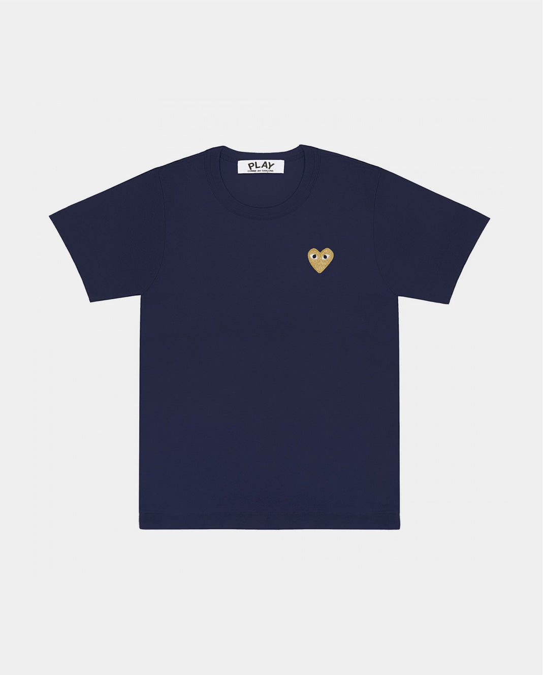 T-SHIRT T215 GOLD HEART / NAVY
