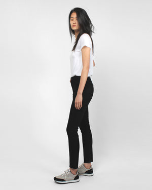 OLIVIA HIGH RISE SLIM ANKLE / BLACK