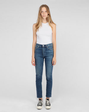 OLIVIA HIGH RISE SLIM ANKLE / SOLO