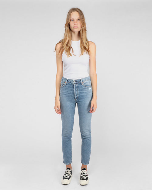 OLIVIA HIGH RISE SLIM ANKLE / CHIT CHAT
