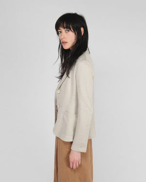 FITTED LINEN BLAZER / ROPE
