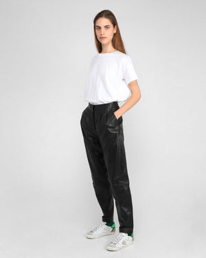 PALAOS LEATHER PANT / BLACK