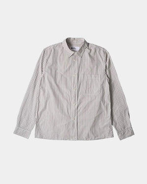 PAINTERS SHIRT / BROWN STRIPE