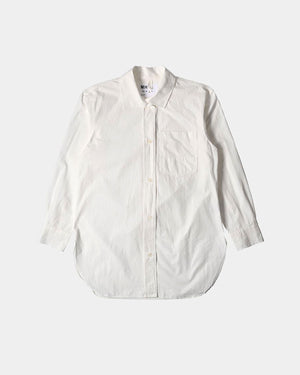 LONG BUTTON THROUGH SHIRT / OFF WHITE