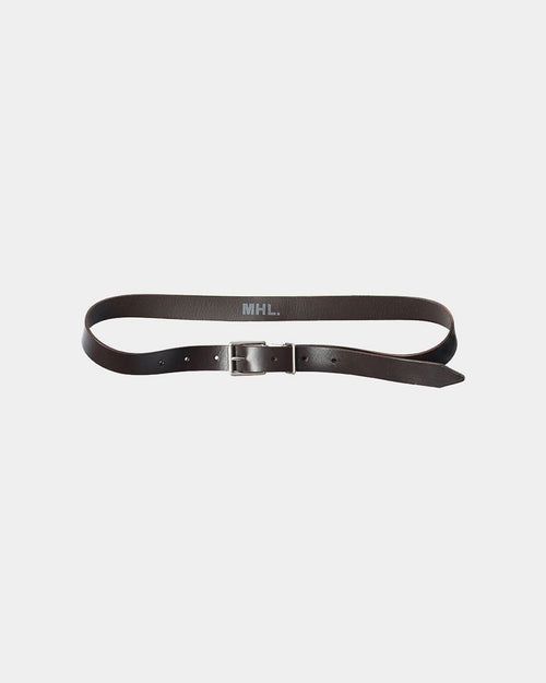 METAL KEEPER BELT / BROWN