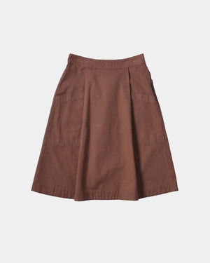 SIDE ZIP SKIRT / MINERAL