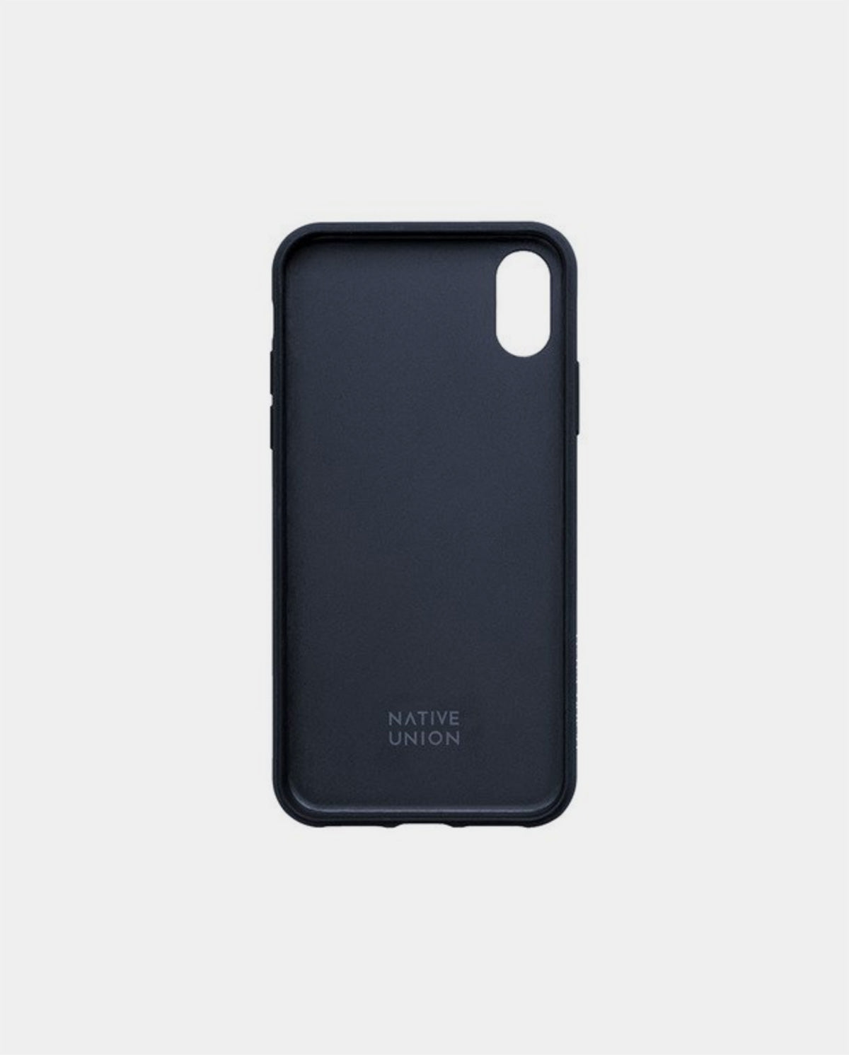 Leather Clic Card Case / Navy