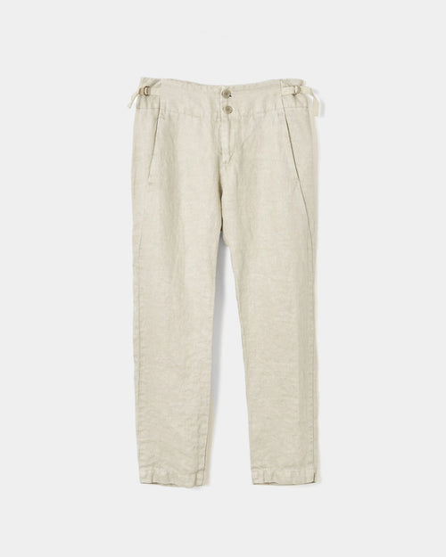CINCH BACK PANT / IVORY