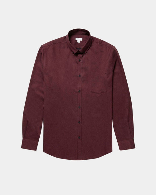 COTTON BUTTON DOWN SHIRT / MAROON