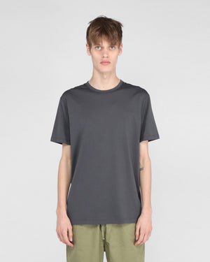 S/S CREW NECK T-SHIRT / CHARCOAL
