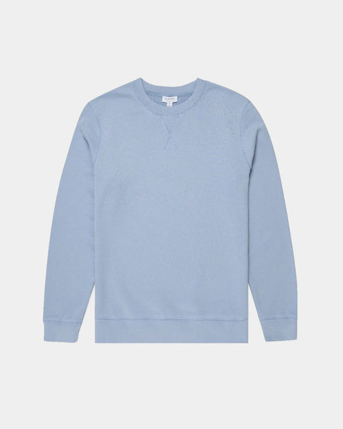 LOOPBACK SWEATSHIRT / WASHED DENIM