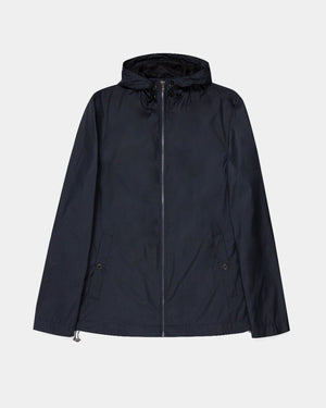 NYLON JACKET WITH HOOD / NAVY