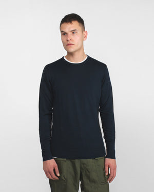 Crew Neck Jumper / Light Navy