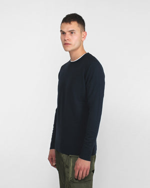 CREW NECK JUMPER / NAVY