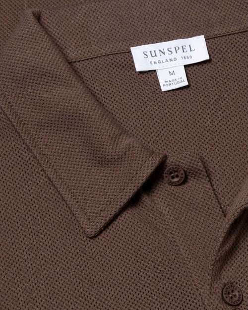 S/S RIVIERA POLO / CHOCOLATE