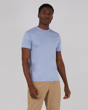 S/S CREW NECK T-SHIRT / WASHED DENIM